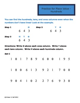 Happy Math Place Value - Hundreds