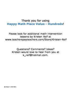 Happy Math Place Value - Hundreds