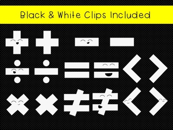 Happy Math Symbols Clip Art Freebie
