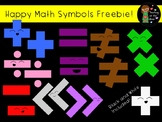 Happy Math Symbols Clip Art Freebie
