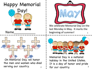 Happy Memorial Day! Mini Book and Coloring Pages
