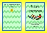 Happy Memories End-of-Year Poem Booklet for Students