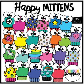 Happy Mittens (Clip Art for Personal & Commercial Use)