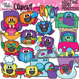 Happy Monster Adulting Planner Chore Clipart