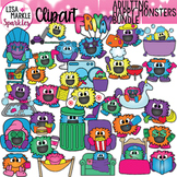 Happy Monster Adulting Planner Chore Clipart BUNDLE