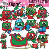 Happy Monster Christmas Elf Clipart