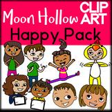 Happy - Moon Hollow Clip Art