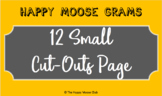 Happy Moose Gram - 12 Small Cut-Outs