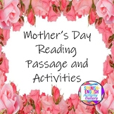 Mother's Day Reading Passage and Activities