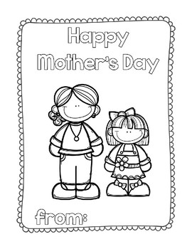 Happy Mother's Day Book (or Aunt, Grandma, or Step Mom)