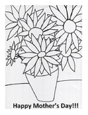Happy Mother's Day Coloring Page- Inspired by Van Gogh's S