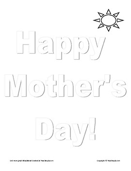 Happy Mother's Day Coloring Page that becomes a Happy Mother's Day Poster