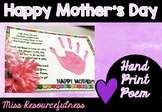 Mother's Day Craft Poem