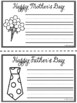 Happy Mother's Day! Happy Father's Day! Writing Template