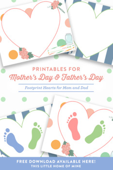 Mother's Day - I love you, Mommy! Footprint Art
