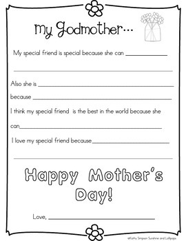 A Fun Writing Activity & Craft for Mom, Aunt, Grandmom on Mother's Day for 1-2