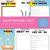 Happy Mothers Day Activity, Worlds Best Mom, All About My Mom, Mom Fingerprint