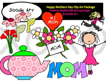 Happy Mothers Day Clipart Pack