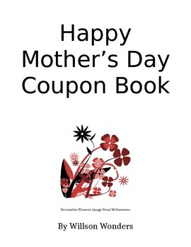Happy Mother's Day Coupon Book