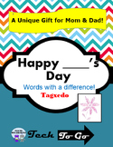 Happy Mother's Day/ Father's Day/ Birthday - A Unique Tagxedo Gift