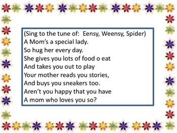 Mother's Day Poems/Songs