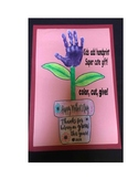 Happy Mothers day Plant Flower Handprint kids art gift potted helping me grow