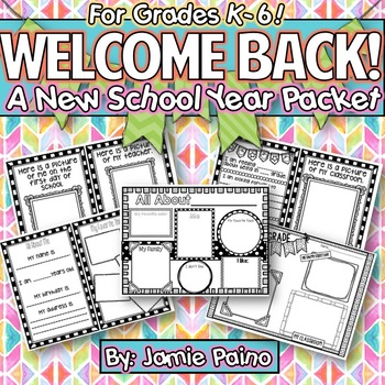 Happy New *SCHOOL* Year Packet