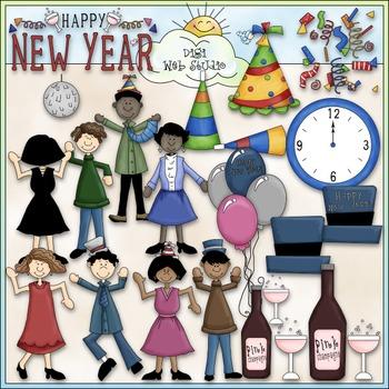 Happy New Year Clip Art - New Year's Eve Clip Art - CU Clip Art & B&W