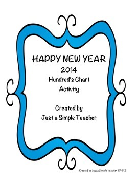 Happy New Year 100's Chart FREEBIE