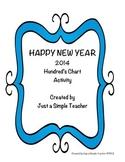 Happy New Year 100's Chart FREEBIE