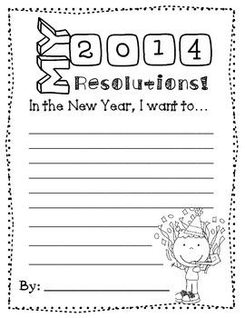Happy New Year! 2014 Craft / ArtProject / Craftivity / Writing