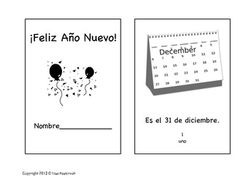 Happy New Year 2014 Mini-Book in Spanish ~ ¡Feliz Año Nuevo!