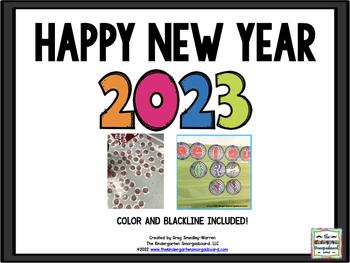 New Year 2019:  A Math, Literacy & Writing BLACKLINE Creation!