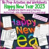 Happy New Year 2018 No Prep Activities