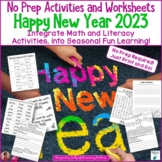 Happy New Year 2019 No Prep Activities