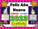 Ano Nuevo 2019 propositos The New Year 2019 - Año Craftivity  Mrs. Partida