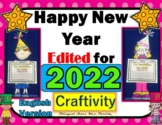 The  New Year 2018 - Craftivity Printables Resolutions boo