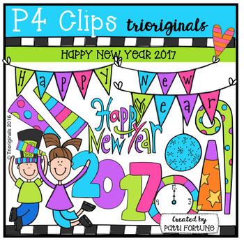 Happy New Year 2017 {P4 Clips Trioriginals Digital Clip Art}