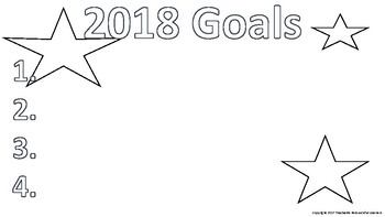 Happy New Year 2018 Coloring & Goal Sheet