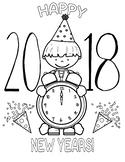 Happy New Year 2018 Boy