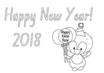 Happy New Year 2018 Freebie