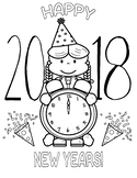 Happy New Year 2018 Girl