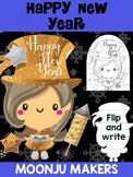 Happy New Year 2019 Girl - Moonju Makers Activity, Craft, Writing, Craftivity