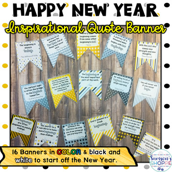 The New Year 2018 Inspirational Quote Banner for Your Classroom