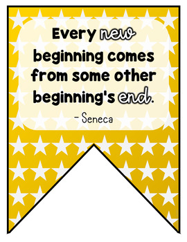 The New Year 2018 Inspirational Quote Banner for Your Classroom Decor