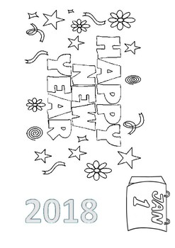Happy New Year 2018 Word Search