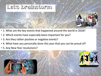 Happy New Year: 2018 a year review interactive PPT and videos