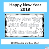 Happy New Year 2019 Coloring & Goal Sheet