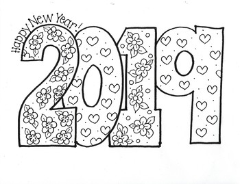 Happy New Year...2019!!! (Flowers and Hearts)