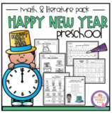 """Happy New Year 2019 Math and Literature Pack """"No Prep"""""""